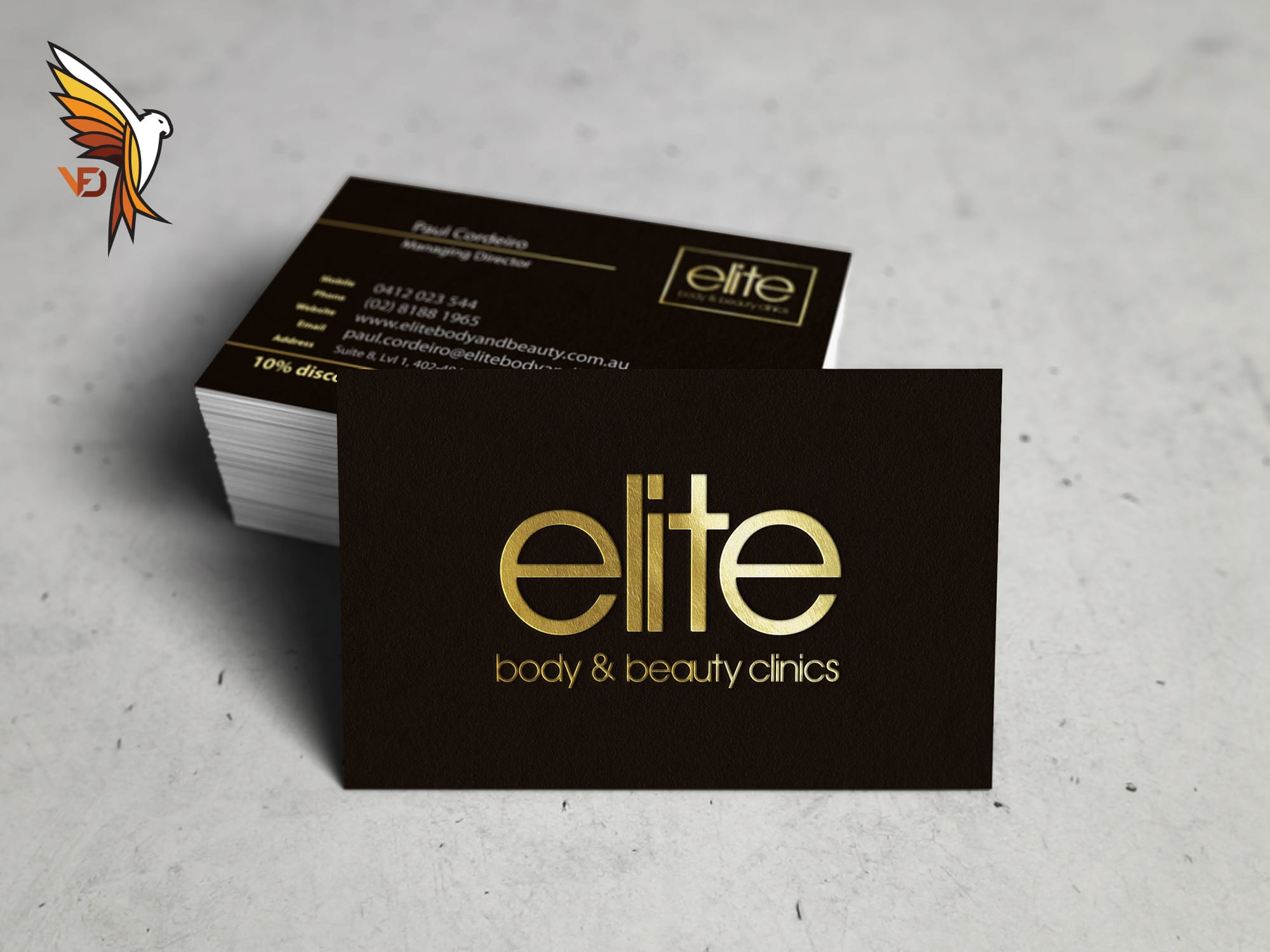 Elite Body & Beauty Business Cards