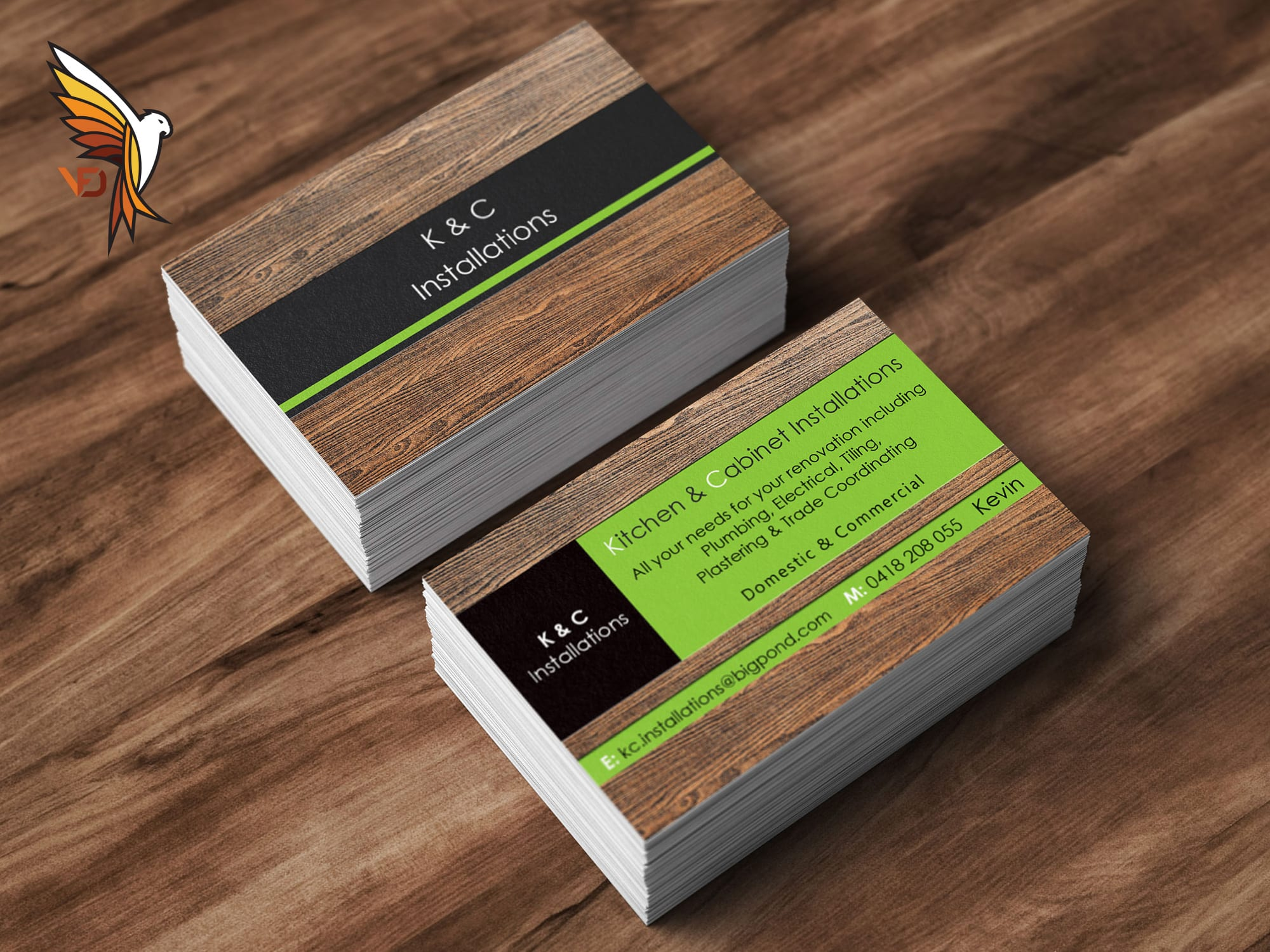 K & C Installations - Business Card