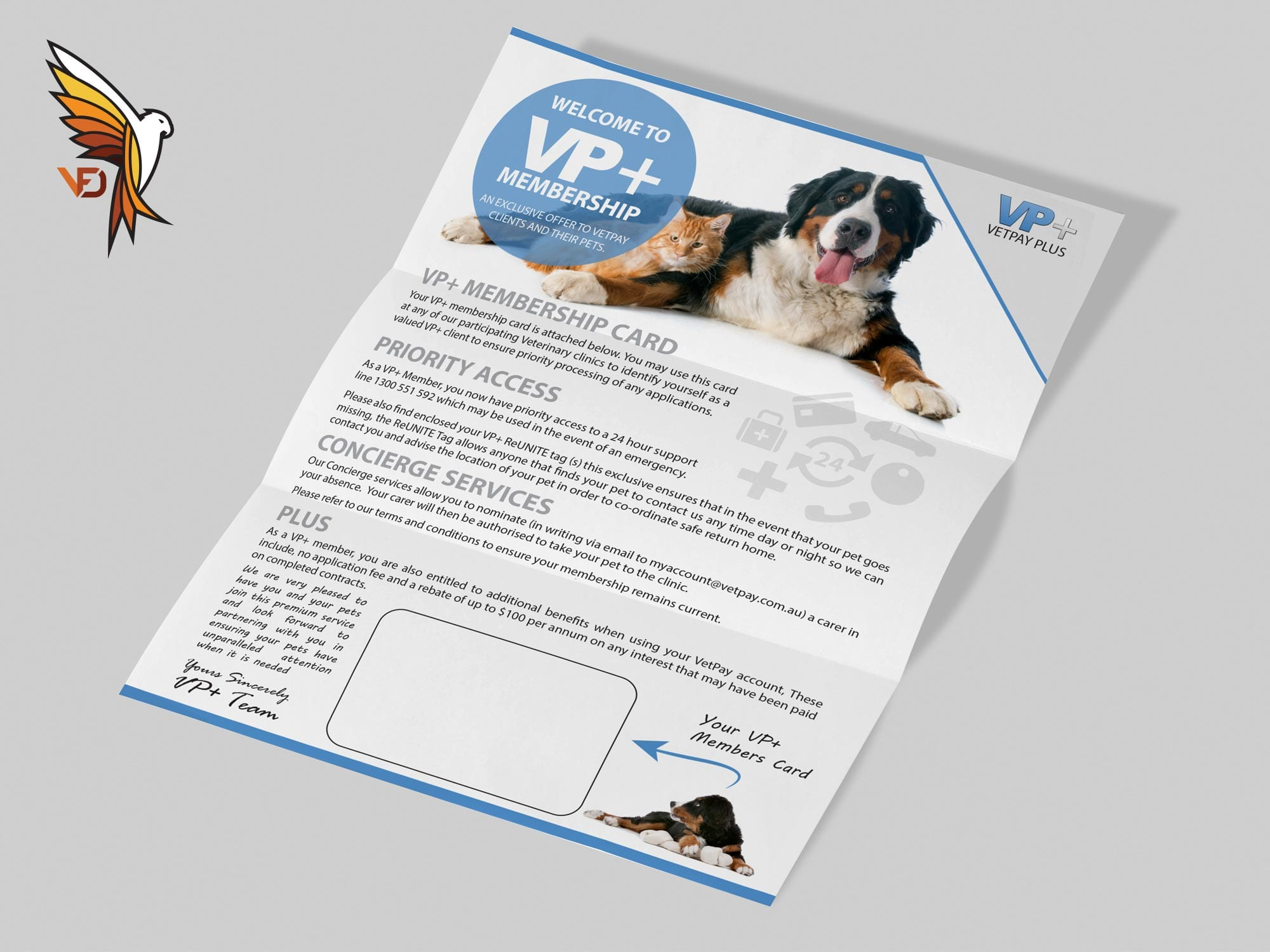 VetPay Plus - Letter Design